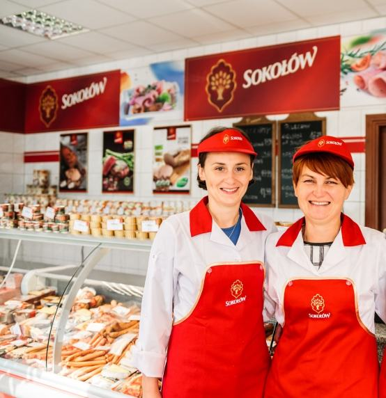 Sale assistants in the Koło Meat Delis