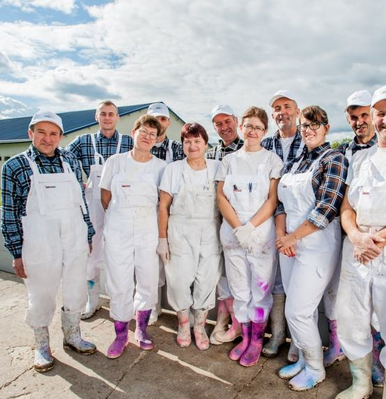 Employees of the Piecki Agro Sokołów farm